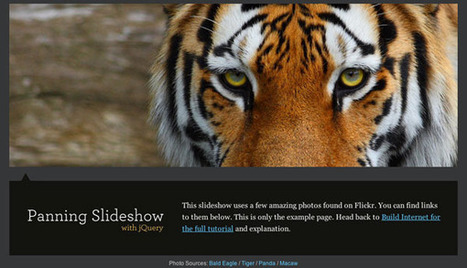 Animate Panning Slideshow with jQuery | Build Internet | Slideshow & Carousel Jquery | Scoop.it