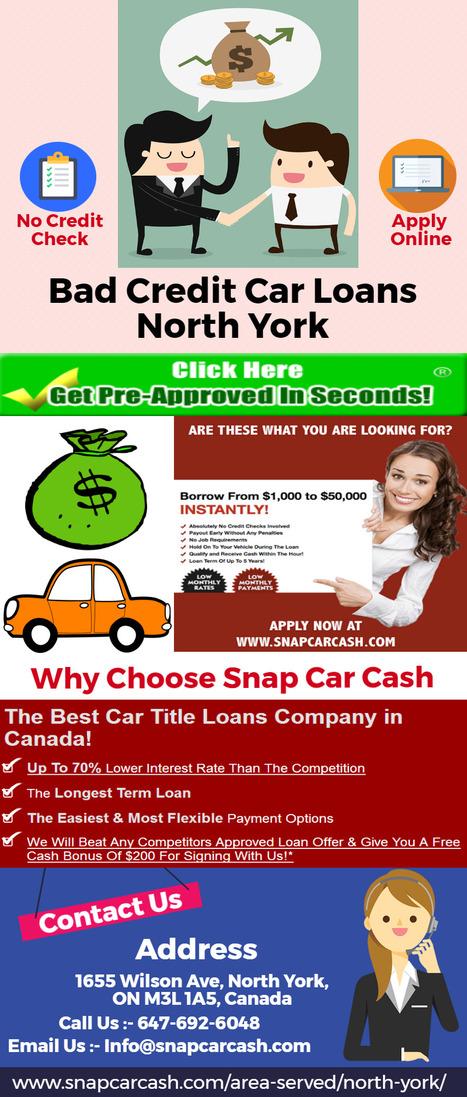 No Credit Check Car Loans >> Bad Credit Car Loans North York Car Title Loa