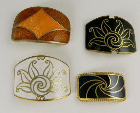 Vintage French Art Deco Basse Taille Enamel Buckle Finding  Destash Lot Warehouse Find | Vintage Fashionista | Scoop.it
