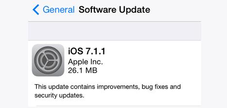 Apple lanza iOS 7.1.1 con mejoras en Touch ID | Ultimate Tech-News | Scoop.it