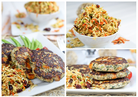 #HealthyRecipe / Sweet Potato and Kale Chicken Patties and a Super Healthy Coleslaw | The Man With The Golden Tongs Goes All Out On Health | Scoop.it