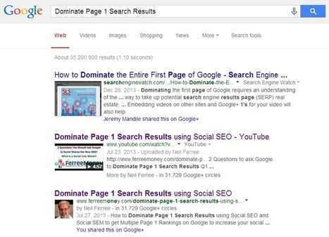 "How to get your longtail keywords to rank on page 1 of Google | ""#Google+, +1, Facebook, Twitter, Scoop, Foursquare, Empire Avenue, Klout and more"" 
