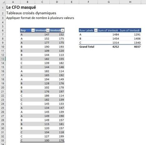 Excel: Appliquer un format de nombre par défaut dans un tableau croisé dynamique – Le CFO masqué | MSExcel | Scoop.it