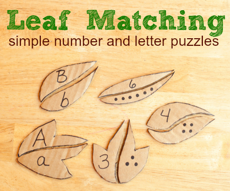 Leaf Matching - Number Recognition Puzzles | Jardim de Infância | Scoop.it