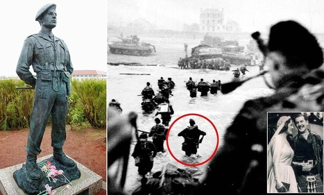 Honour fit for the clan chief Lord and Mad Piper of D-Day: New statue | British Genealogy | Scoop.it