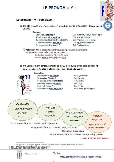 LE PRONOM Y | Le Top du FLE | Scoop.it