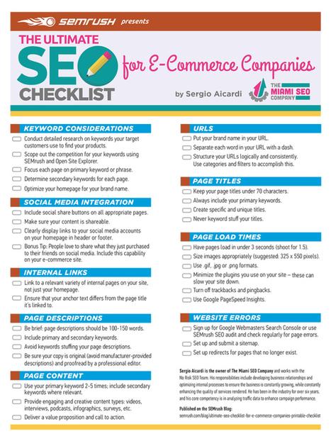 Own an Online Shop? The Ultimate SEO Checklist for Ecommerce Websites | Red Website Design Blog | Websites - ecommerce | Scoop.it