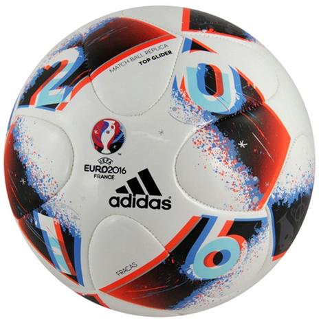 Adidas UEFA EURO 2016 Fracas Top Glider Ball White Bright Blue Solar  Red Silver 6b3c21129e48d