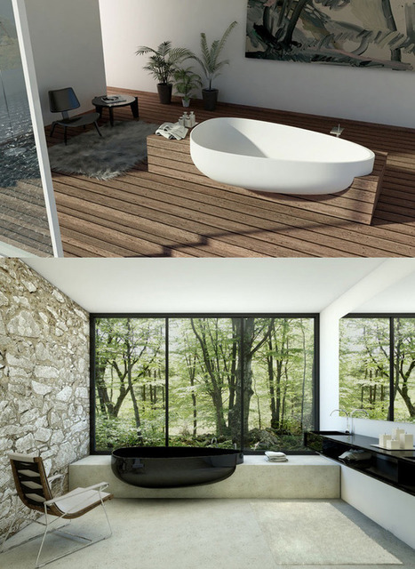 Elegant and Stylish Bathtubs! Choose between White or Black! | Furniture Design | Scoop.it
