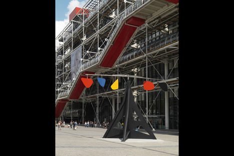Alexander Calder's Horizontal Permanently Installed in Front of Centre Pompidou | images in context | Scoop.it