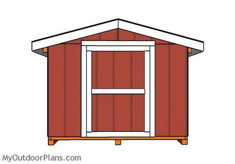 Building a 8x8 Short Shed with Gable Roof | MyOutdoorPlans | Free Woodworking Plans and Projects, DIY Shed, Wooden Playhouse, Pergola, Bbq | Garden Plans | Scoop.it