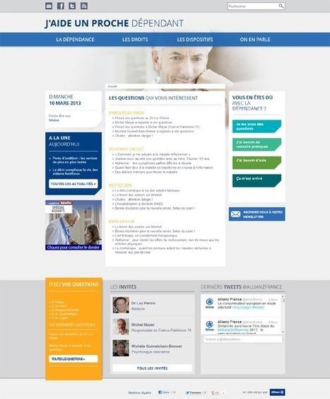 Site web d'information dédié à la dépendance par Allianz   E-santé, m-santé, suivi du patient & quantified self   E-patients, e-patients 2.0   Web manager   Scoop.it