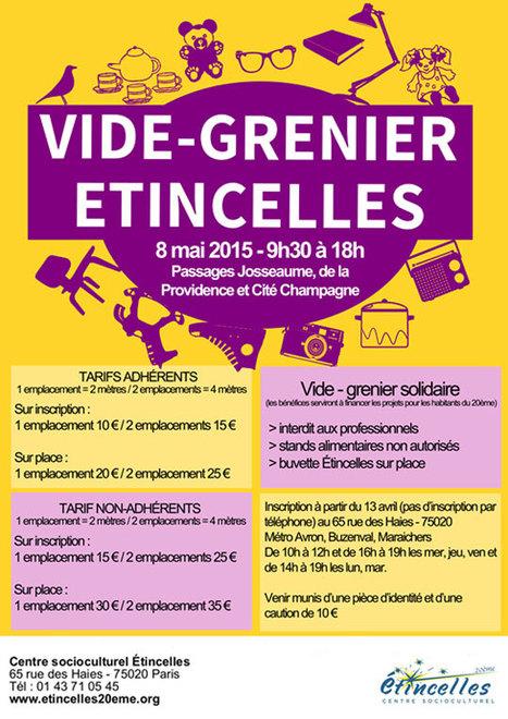 Vide-grenier solidaire d Etincelles, passage Josseaume, passage de la  Providence et Cité Champagne, Paris 20ème   Paris Est Villages f050d2224e8