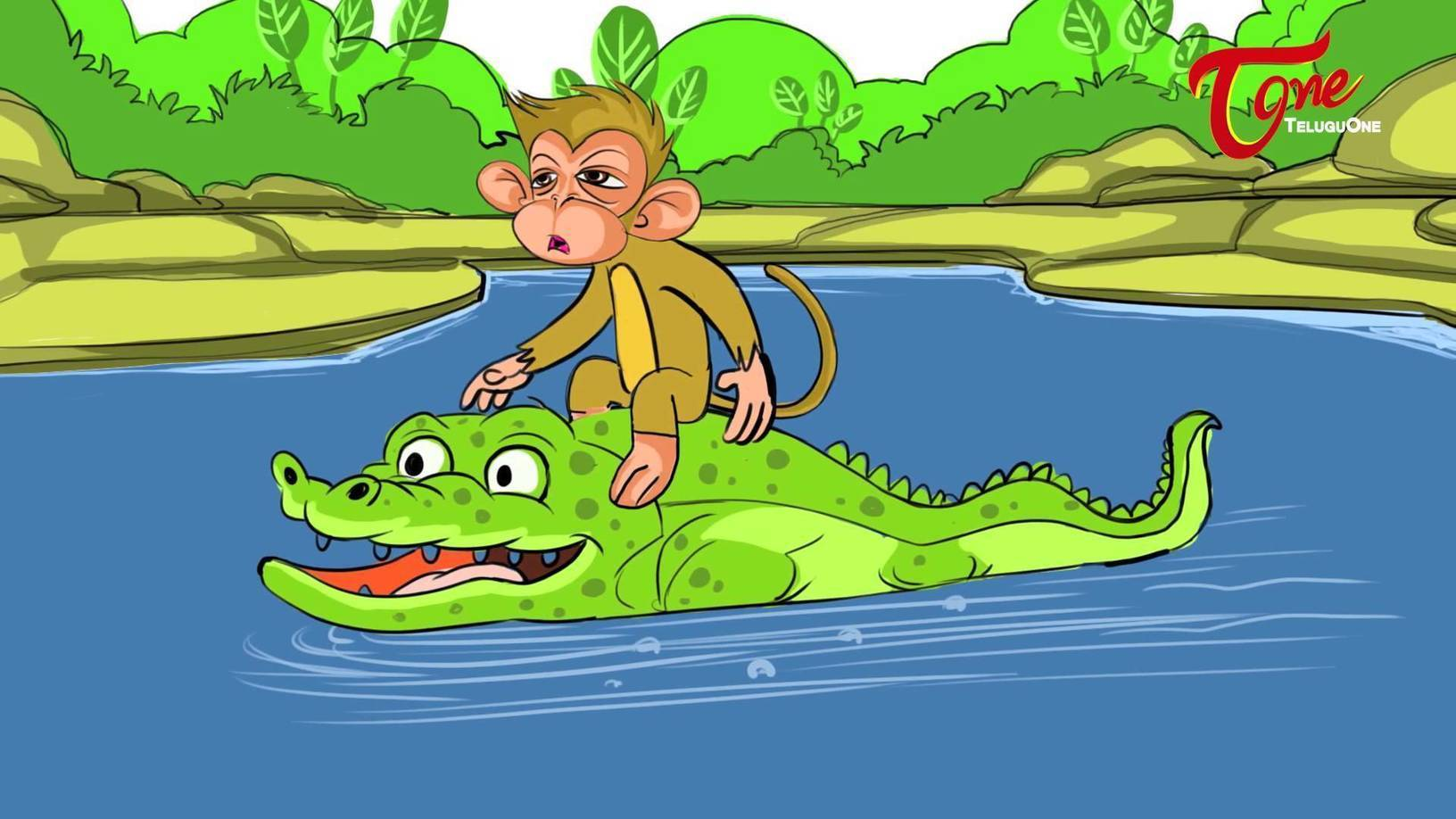 The Crocodile Monkey And Heart Story For Kids Telugu