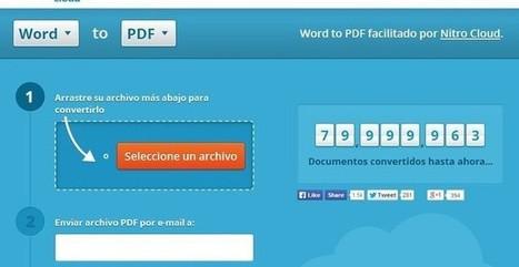 Nitro Cloud, convierte documentos de Office a PDF y viceversa | De las TIZAS a las TICas | Scoop.it