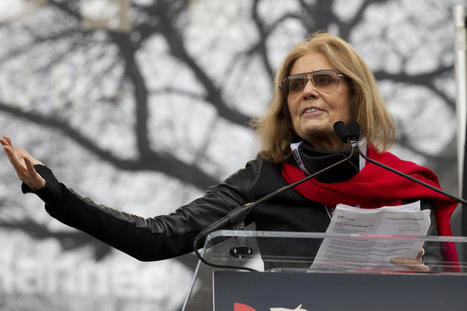 "Gloria Steinem on Women's March. ""Pressing send does not allow us to empathize...it only happens when we're together."" 