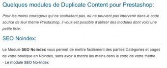 Le Duplicate Content dans Prestashop : Une solution gratuite - Forum | Optimisation | Scoop.it