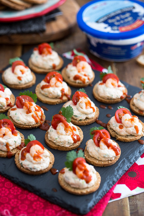 Goat Cheese Shrimp Dip and Canapés • The Healthy Foodie | Passion for Cooking | Scoop.it