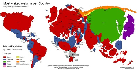 Amazing Map of the Most Visited Website per Country ~ Teachers Tech Workshop   ed tech.computer class.writing ctr.ICT skills   Scoop.it