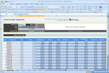 Free Download Stock And Sales Statement For Pha