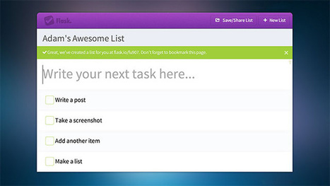 Flask Creates Shareable To-Do Lists on the Fly, No Account Required | Art of Hosting | Scoop.it