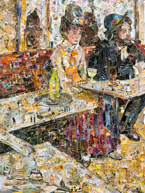 Thousands of Torn Paper Pieces Recreate Classic Paintings from the 19th Century | Le It e Amo ✪ | Scoop.it