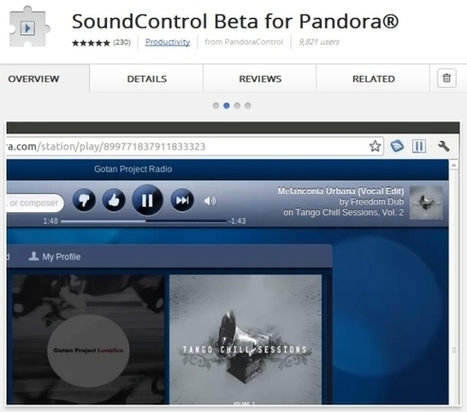 SoundControl Beta Offers Easy Pandora Control In The Browser [Chrome] | BestChromeExtensions | Scoop.it