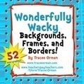 Wonderfully Wacky Backgrounds and Frames Clip Art Graphics | Clip Art for Commercial Use | Scoop.it