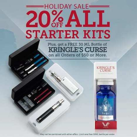 20% OFF all Starter Kits and Free Kringle's Curse! | E-Cigarettes | Halo Cigs | Scoop.it
