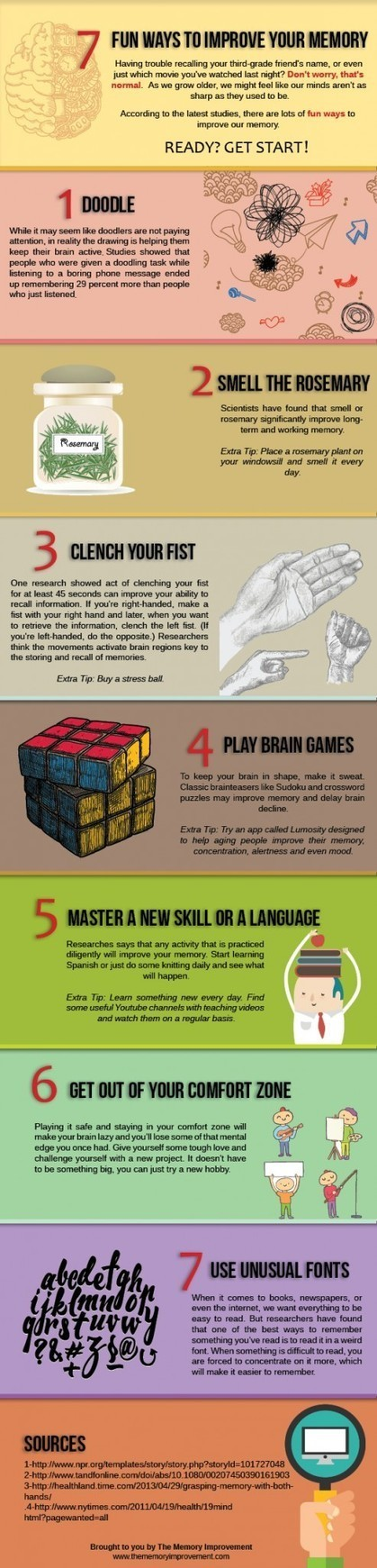 Fun Ways To Improve Your Memory Infographic | CSPEducational Technology | Scoop.it