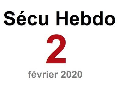 Sécu Hebdo 2 du 9 février 2020
