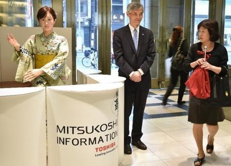 A robot just started her job as the receptionist at Japan's oldest department store | Higher Education and more... | Scoop.it