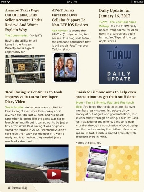 Create A Personalized Magazine With Google Reader Feeds In Ziner | iPads in Education Daily | Scoop.it