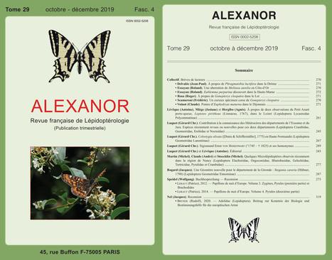 Alexanor – Revue française de Lépidoptérologie : Le fascicule 29 (4) vient de paraître | Histoires Naturelles | Scoop.it