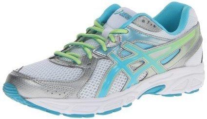 dbfc2d2106 ASICS Women's Gel-Contend 2-D Running Shoe,White/Turquoise/Sharp Green,12 D  US