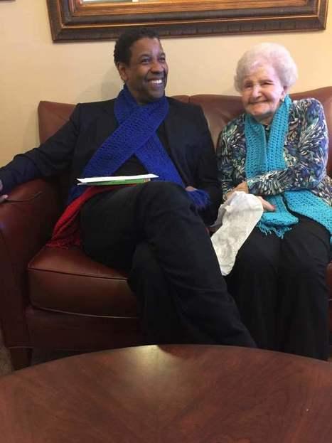 À 99 ans, cette bibliothécaire rencontre Denzel Washington, son rêve | Bibliothèque et Techno | Scoop.it