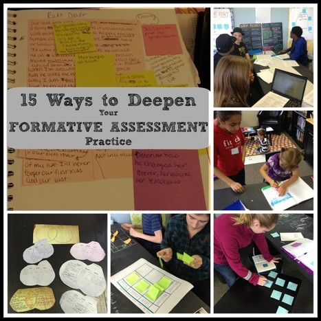15 Ways to Deepen Your Formative Assessment Practice | Globicate - Global Education for a New Generation | Scoop.it