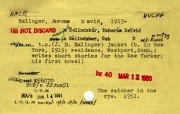 Vintage Catalog Cards for Literary Classics from the Semi-Secret Archive of the Library of Congress | The Information Professional | Scoop.it