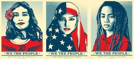 "'Hope' artist's new posters for ""We the People"" protest 