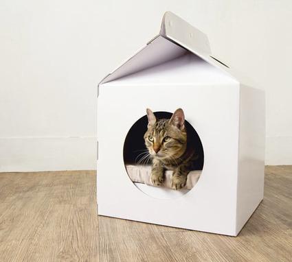 une niche inspir e des briques de lait u. Black Bedroom Furniture Sets. Home Design Ideas
