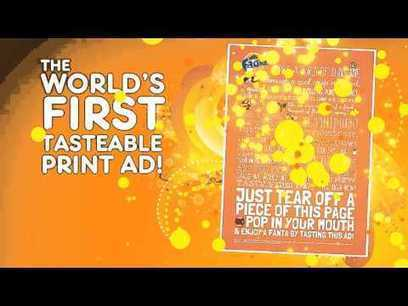 Fanta: World's First Tastable Print Ad   Ads of the World™   Mark-it!   Scoop.it
