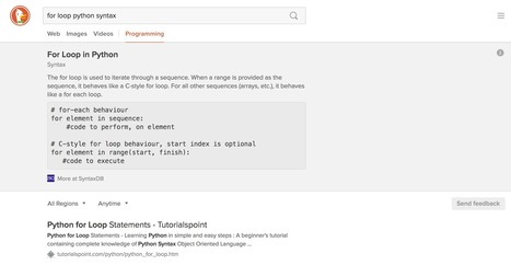 A Search Engine for Programming Language Syntax Is a Pretty Good Idea | d@n3n | Scoop.it