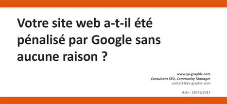 Votre site web a-t-il été pénalisé par Google sans aucune raison ? | Médias et réseaux sociaux | Scoop.it
