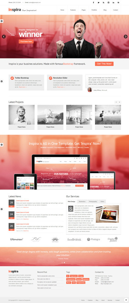 One Page HTML5 Templates   HTML5 & CSS3   Design Blog   Template & Webdesign   Scoop.it