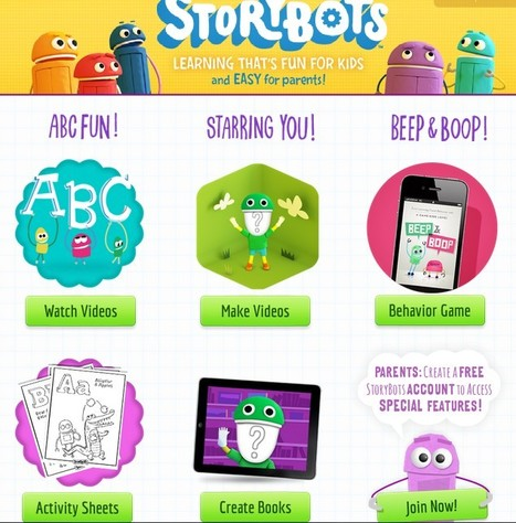 Kids Fun Learning: MEET THE STORYBOTS | UpTo12-Learning | Scoop.it