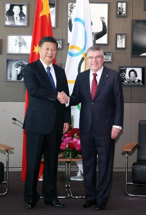 Photos : Rencontre entre Xi Jinping et Thomas Bach à Lausanne — Chine Informations | Herbovie | Scoop.it