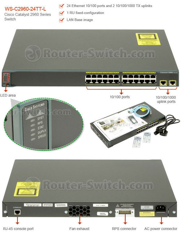 WS-C2960-24TT-L Price - Cisco Switch WS-C2960-2
