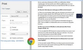 A Great Easy Way to Turn Web Pages into PDFs | TEL by Ffynnonweb | Scoop.it