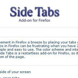 Side Tabs: A Simple Way To Manage Opened Tabs [Firefox] | Techy Stuff | Scoop.it