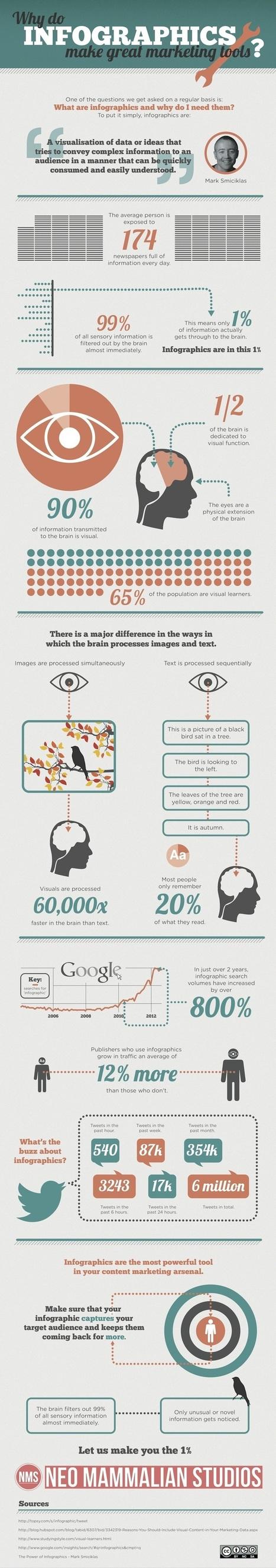 Eine Infografik über Infografiken im Marketing | Social Media in Public Relations | Scoop.it